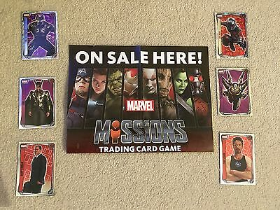 New MARVEL MISSIONS Trading Cards 2017 Topps Mirror Super Holographic Game