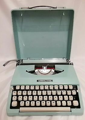 Imperial Typewriter 200 Tropic Blue Fully Working Immaculate Condition Boxed