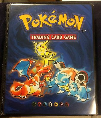 Original Pokemon Trading Card Game set in original book folder approx 100 cards