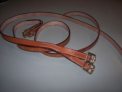 light horse WWI Leather saddle wallet Y straps (pair)