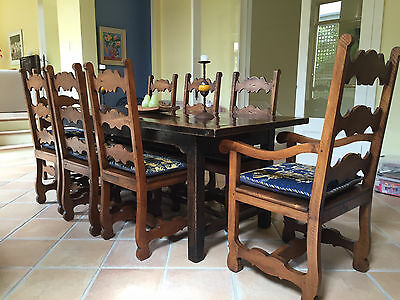 Italian Provincial style walnut dining chairs