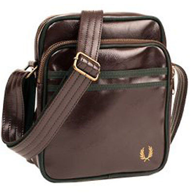 Fred Perry Classic Side Unisex Bags Chocolate