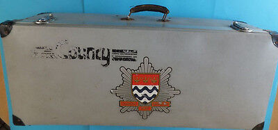 Rare Vintage County London Fire Brigade Storage Trunk Case