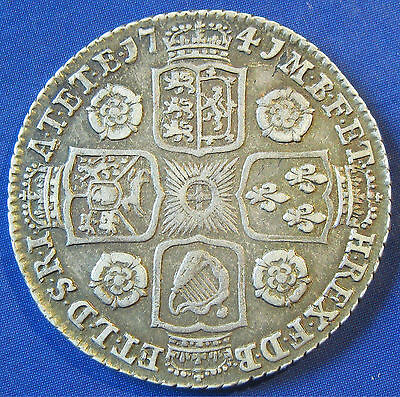 1741 1/- George II silver Shilling in a very attractive grade