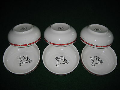 "6 Coca-Cola Christmas Polar bear paw print Cereal bowl Anchor Hocking 6.5"" x2.5"""
