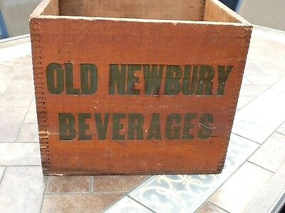 Vintage RARE OLD NEWBURY BEVERAGES Wood Box By C. Leary & Co., Mass