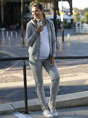 Maternity Track Suit Outfit Set in Marl Grey #7012