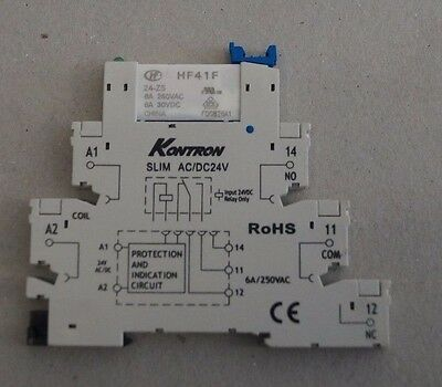 10 pieces of 24 V DC/AC Ultra Slim Relay DIN Rail Mount