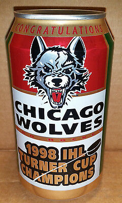 Chicago Wolves 1998 IHL Turner Cup Hockey Champions 12 oz. Canada Dry Can