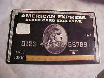 AMERICAN EXPRESS BLACK CARD EXCLUSIVE CENTURIAN Estate Find Plastic Rare BIG