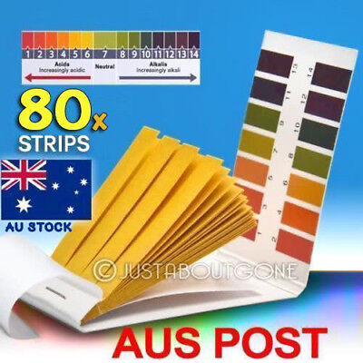 80Ph Test Strips Litmus Paper Testing1-14 Water Acid Urine Saliva Alkaline Level
