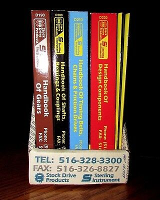 6 Mechanical Parts Tool Catalogs Stock Drive Products Gear Pulley 1993 Boxed Set