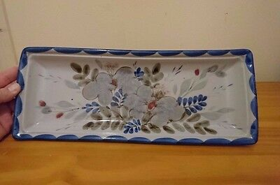 "Quality Highland Stoneware Large 15"" Long dish decorative rectangular plate"