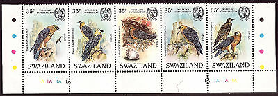 Africa, Swaziland 1982 Birds Bearded Vulture Wildlife Conservation, Mint stamps