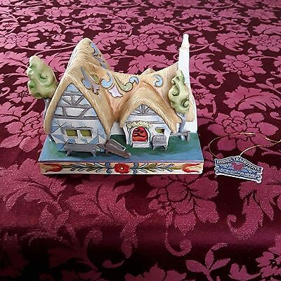 Jim Shore Disney ENCHANTED SNOW WHITE COTTAGE  #4031495 - New In Box