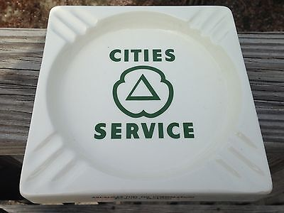 Vintage HTF Large 1960'S Arkansas Fuel Oil Corp Cities Service Gas Ashtray