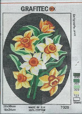 Grafitec Printed Tapestry Needlepoint Canvas - Daffodils
