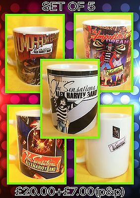 Alex Harvey Band- Set Of Five Classic Album Covers-On  Mugs-A Snip £20.00+P&p