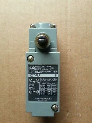 Allen Bradley 802T-Alp Oiltight Limit Switch Series F. New.switch Only.no Base.