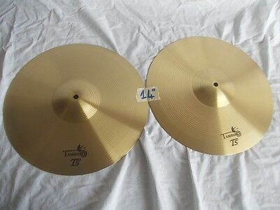 "TAMBURO T5 coppia piatti 14"" pollici per hi hat charleston per batterìa drum set"