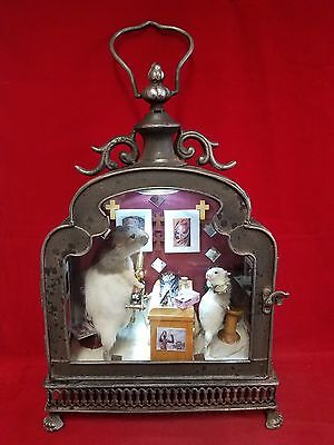 *Taxidermy Mouse, Rat and Bat Tattoo Parlor Scene-anthropomorphic-art-diorama