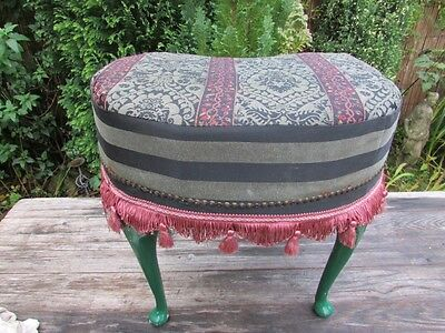 Vintage Antique Wooden Dressing Table Stool