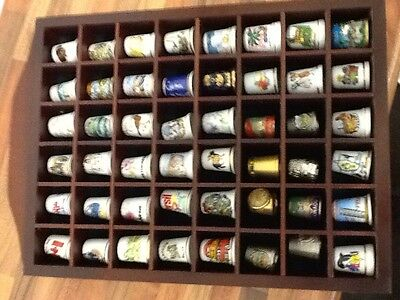 Vintage Thimbles Collection Fine China Plus Display Case Gift Present