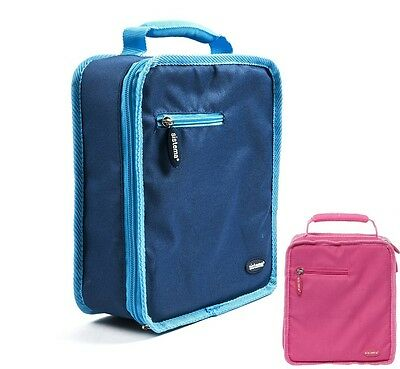 Sistema Insulated Zip Lunch Box Bag Storage Portable Food School Cooler