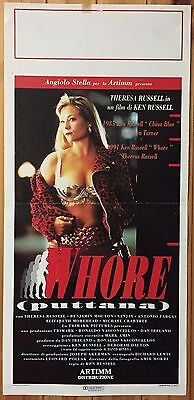 LOCANDINA Whore (Puttana) con Theresa Russell e Antonio Fargas - P138