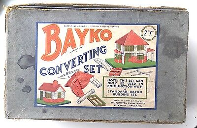 Bayko Building Sets - X2 Converting Set - Early Boxed