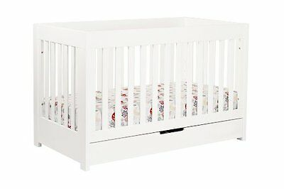 babyletto Mercer 3-in-1 Convertible Crib with Toddler Rail, White