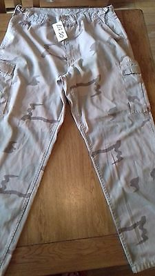 """american military combat desert trousers Size 34"""" to 36"""" Grade 1"""