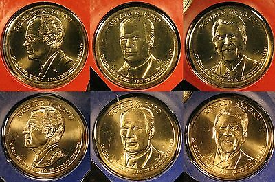 2016 P D President Dollar Coin Set of 6 Brilliant Uncirculated Mint Set Coins