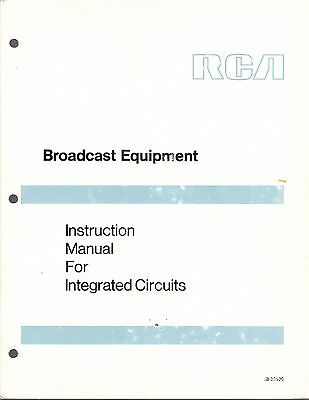 RCA BROADCAST INSTRUCTION MANUAL for INTEGRATED CIRCUITS