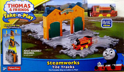 Thomas & Friends Take-n-Play - Steamworks Tile Tracks with Victor - New - Sealed