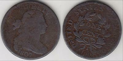 1807 Draped Bust Large Cent Ag-G Details