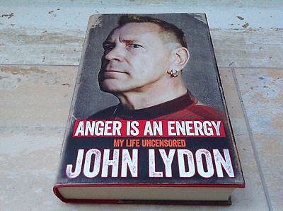 JOHN LYDON ANGER IS AN ENERGY SIGNED BOOK (HARDBACK) JOHNNY ROTTEN  Sex Pistols