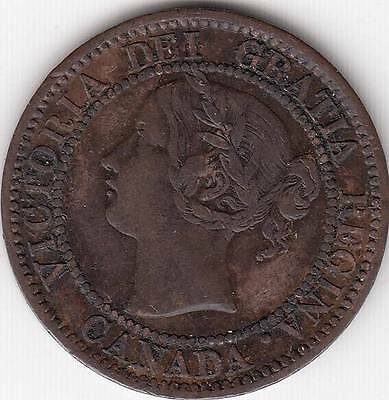 Just Reduced!! Canada Victoria Large Cent Scarce Key Variety 1859 Dp #1 Vf