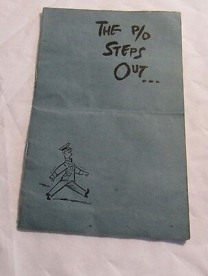 WWII Booklet The P/O Steps Out British Officer Instruction Royal Air Force RARE