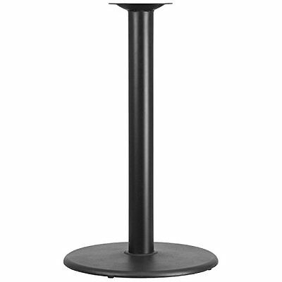 Flash Furniture 24in Round Restaurant Table Base with 4in Diameter Bar Height Co