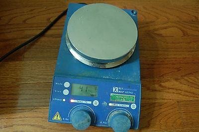 IKA RET  hotplate/ stirrer   digital  magnetic hot plate mixer control visc