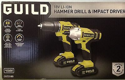 18v Hammer Drill plus Impact Driver with 2x 1.5ah batteries. Brand New Sealed