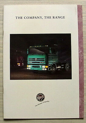 FODEN THE COMPANY, THE RANGE Commercial Vehicles Sales/Publicity Brochure 1997