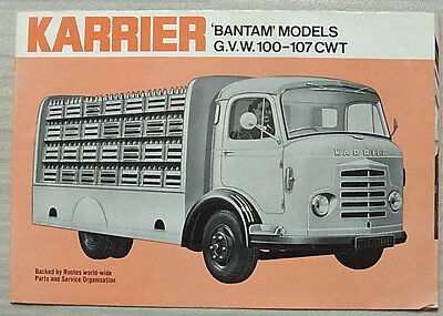 KARRIER BANTAM MODELS GVW 100-107 CWT Commercial Sales Brochure July 1966 #1484C