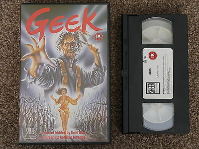 geek vhs tape big box ex rental - 1986 sheer entertainment - dean crow pre cert