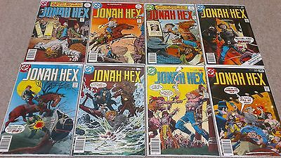 JONAH HEX #1,2,3,4,5,6,8,10 (1977 DC COMICS) Western Bronze Age Lot F/VF-NM