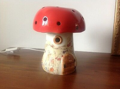 Red Elf Mushroom Toadstool Lamp By White Rabbit England Co