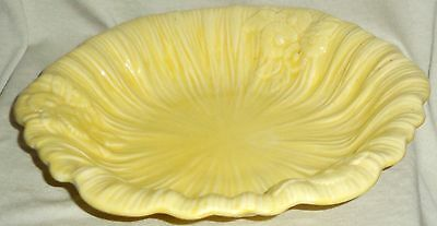 Crown Ducal Ware Frilled Bowl Lemon Yellow WW2 Era RARE