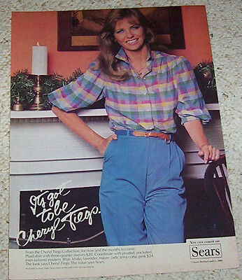 1982 ad page - Cheryl Tiegs Sears ladies clothing fashion VINTAGE print ADVERT