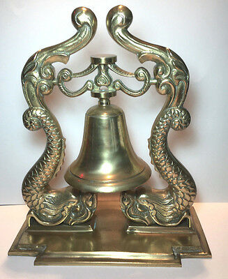 Brass Bell with Serpents Sea Dragons
